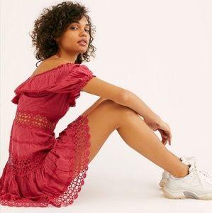 Mixed Emotions Off-The-Shoulder Mini Dress